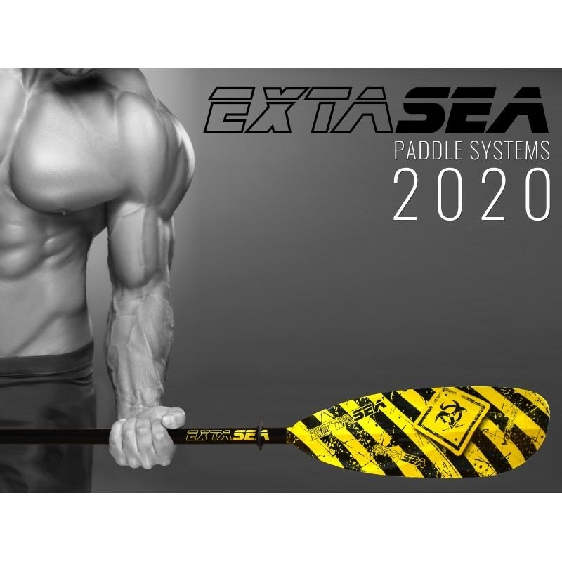 ExtaSea Pro-Ergo Carbon Vario Doppelpaddel Kajakpaddel 2-teilig